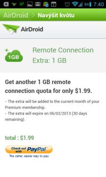 1 GB přenesených dat za 1,99 dolaru