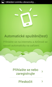 Novinky AirDroid 2.0: automatické spuštění aplikace
