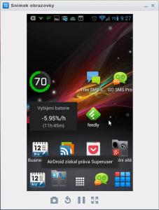 Pořízení snímku obrazovky