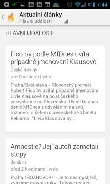 Aktuality Google: články