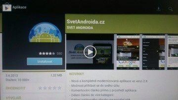 Google Play nabízí znatelně méně aplikací - spoustu jich náš přístroj totiž nepodporuje