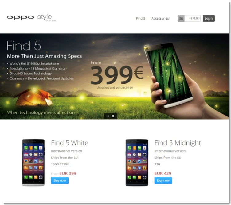 Buy OPPO Find 5 - Free Shipping from Europe  EU  - OPPO Style Europe