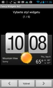 Fancy Widgets: Hodiny s počasím ala HTC