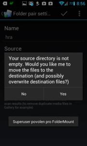 FolderMount: přesun dat