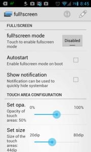 full!screen: možnosti nastavení