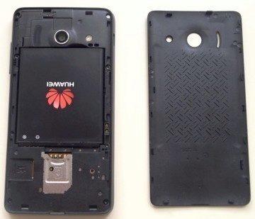 Huawei Ascend Y300 se sejmutým zadním krytem
