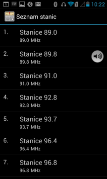 FM Rádio - seznam stanic