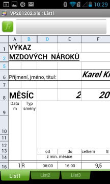 Quickoffice otevře tabulky Excel