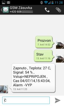 SMSky se zobrazují formou dialogu
