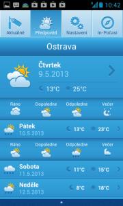 In-počasí: předpověď počasí
