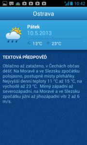 In-počasí: textová předpověď