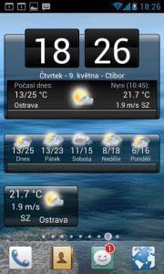 In-počasí: widgety