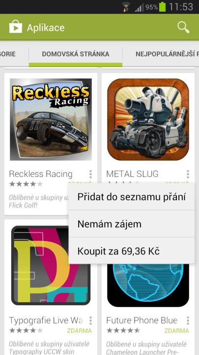 menu aplikaci