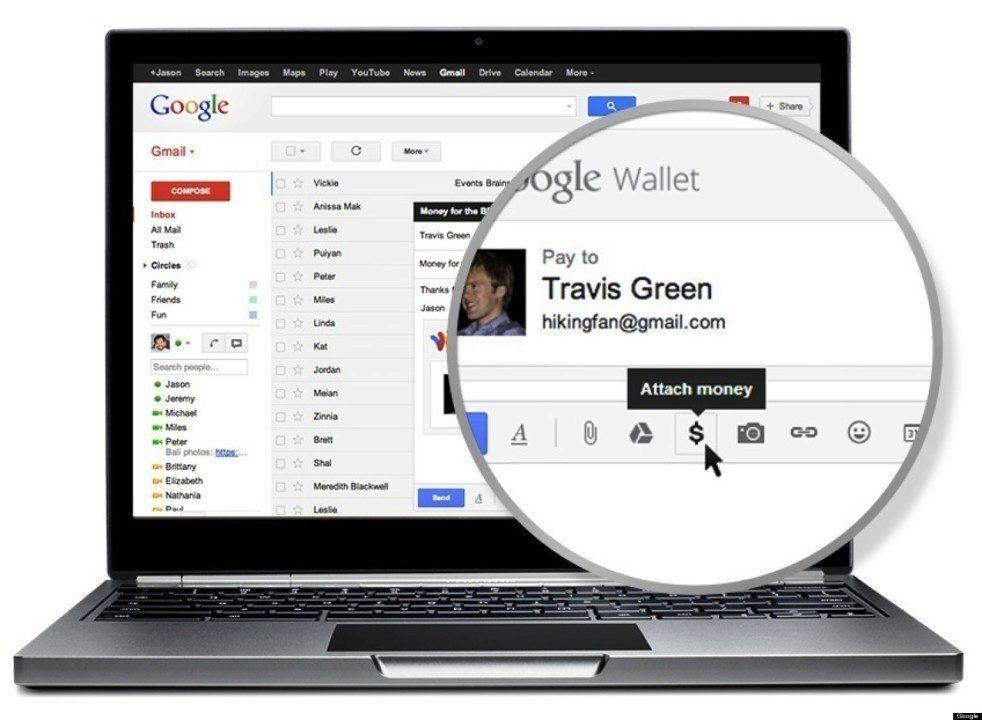 Gmail money send