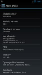 Samsung Galaxy S4 s nainstalovaným systémem CyanogenMod