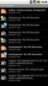 TTRSS-Reader: seznam článků