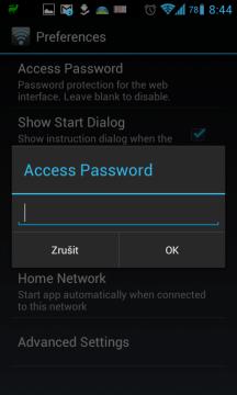 Nastavení přístupového hesla