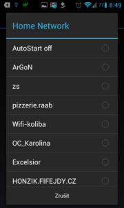 Volba domácí sítě