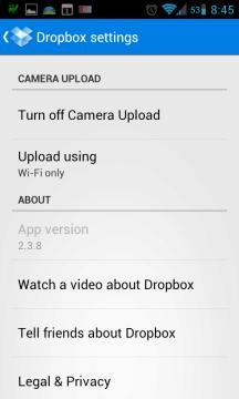 Dropbox: nastavení automatického nahrávání fotek