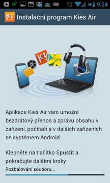 Kies Air: představení aplikace