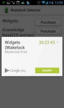 Nákup widgetů