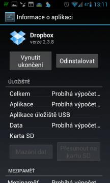 Systémové informace o aplikaci
