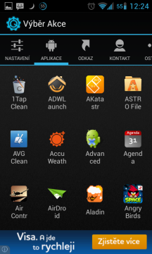 Nabídka Aplikace