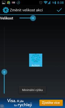Změna velikosti tlačítek