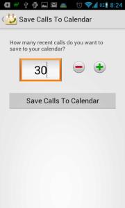 Call Log Calendar: počet zálohovaných položek