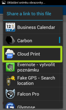 Sdílet budeme na Cloud Print