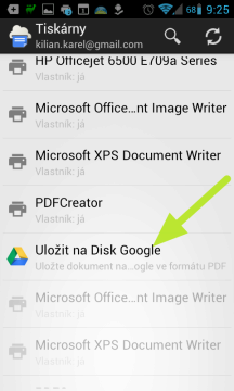 Tisk do PDF souboru