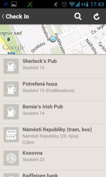 Poloha podle Foursquare
