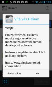 Helium - App Sync and Backup: aplikace funguje i bez rootu