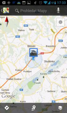 Telefon nás správně lokalizoval do Studénky