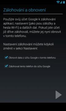 Zálohování a obnovení na/z účtu Google