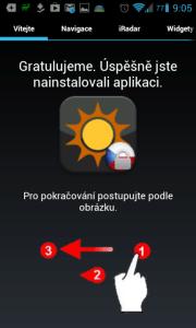 Aplikace vás po instalaci přivítá