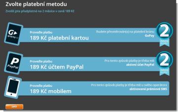 Předplatné - Voyo.cz – Videoportál s jedinečnou nabídkou filmů a seriálů (1)