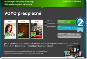Předplatné - Voyo.cz – Videoportál s jedinečnou nabídkou filmů a seriálů