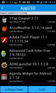 Root App Delete: přesun aplikací na kartu