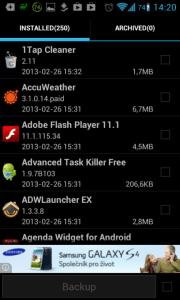 Super Backup: záloha aplikací