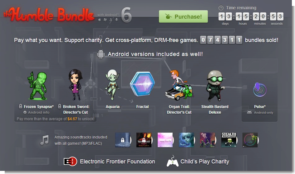 The Humble Bundle with Android 6  pay what you want and help charity