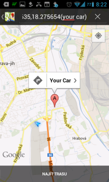To samé v Mapách Google