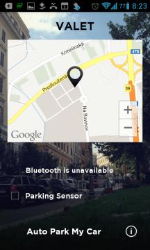 Automatický senzor parkování