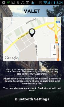 Informace o připojení Bluetooth