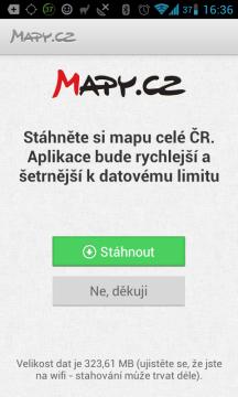 Nabídka stažení map ČR