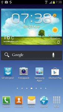 TouchWiz na Samsungu Galaxy S III