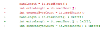 Změny v kódu - takto byla chyba opravena