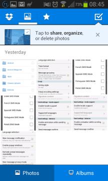 Dropbox: náhled galerie v cloudu
