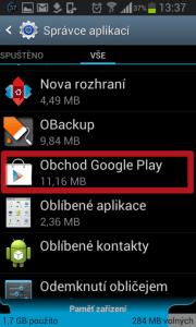 Otevřete Obchod Google Play