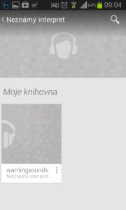 Google Play Music: moje knihovna